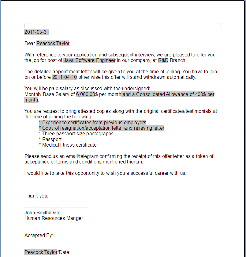 Example Of Offer Letter from odftoolkit.org