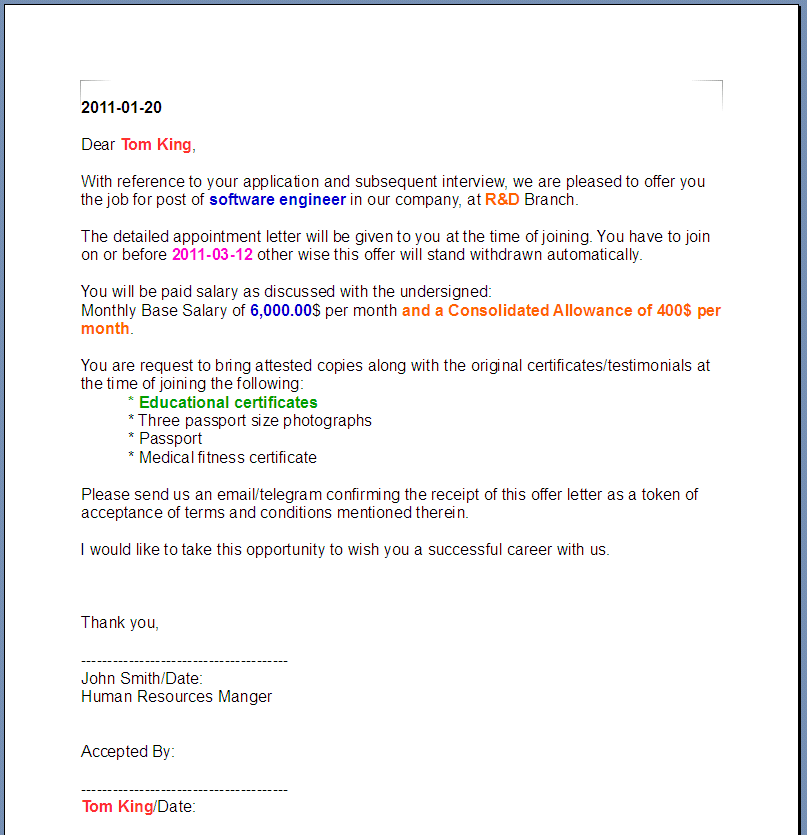 Job Offer Acceptance Letter With Conditions from odftoolkit.org